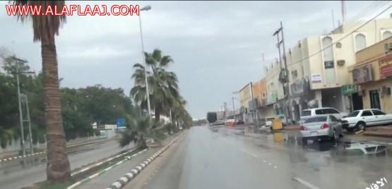 بالفديوا . أمطار محافظة الأفلاج صباح اليوم السبت  وحراضة وشعيب مليزق