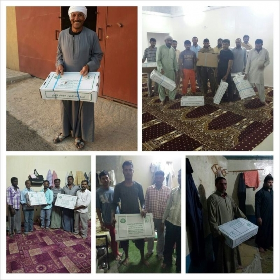 تعاوني البديع يقوم بتوزيع وجبات اللحوم على الجاليات المسلمة ..