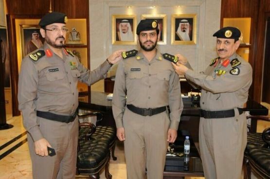 مديرالأمن العام اللواء المحرج يقلد العرجاني رتبته الجديدة