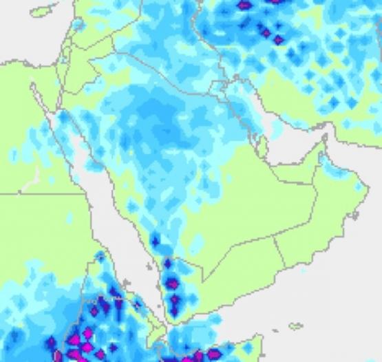 """""""الأرصاد"""": الفرصة مهيأة لهطول أمطار غزيرة على """"الوسطى"""""""