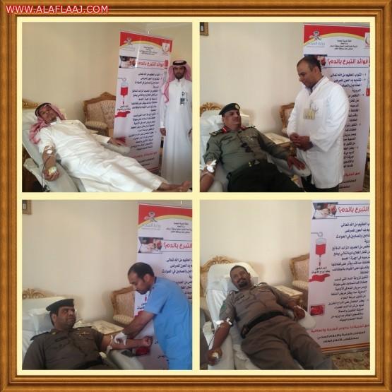 آل حسين يدشن حملة التبرع بالدم في الأفلاج