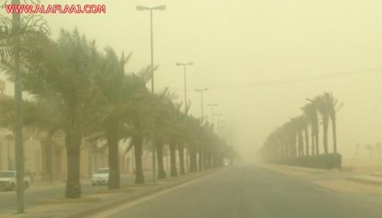 موجة غبار تجتاح الأفلاج والطوارئ يستقبل حالات الربو