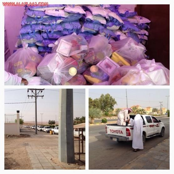 جمعية الهدار توزع 350 سله غذائية لمستفيديها