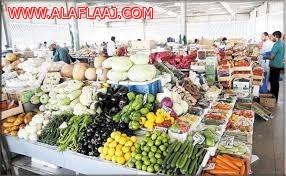 بلدية اﻷفلاج تشن جولات تفتيشية على سوق الخضار وتتلف العديد من الخضار والفواكه الفاسدة