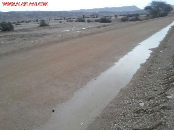 تقرير مصور عن أمطار الأحمر عصر الجمعة