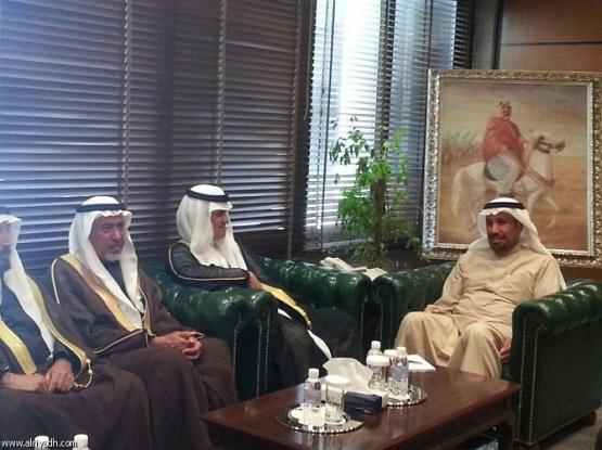 أمين الرياض يستقبل رئيس وأعضاء مجلس بلدي الأفلاج