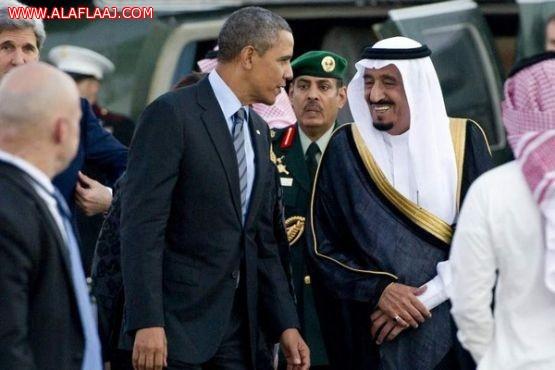 """""""أوباما"""" في حضرة الملك.. عائد بعد عام بصحبة 30 مسؤولاً ومدير الـ""""CIA"""""""