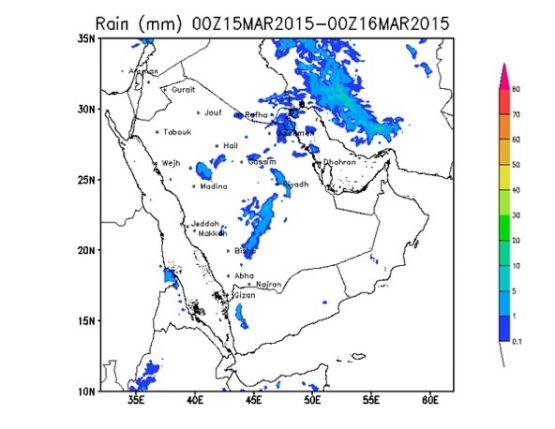 """""""المزروعي"""": غزارة الأمطار على الوسطى والشرقية الشمالية والكويت"""