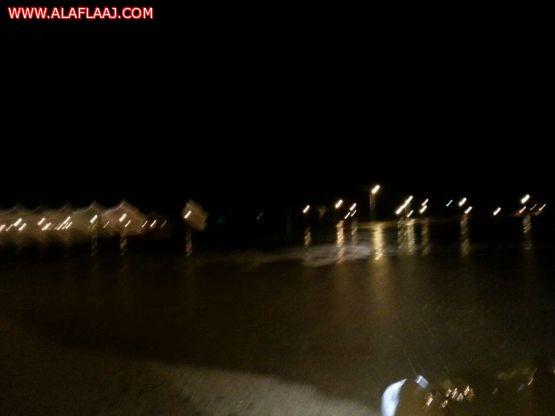 بالصور امطار على مركز طوال غرب الأفلاج وسيول خفيفة عليها