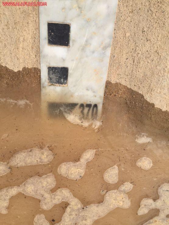 بالصور : إرتفاع منسوبي المياه في سد الهدار الى ٣،٧٠متر