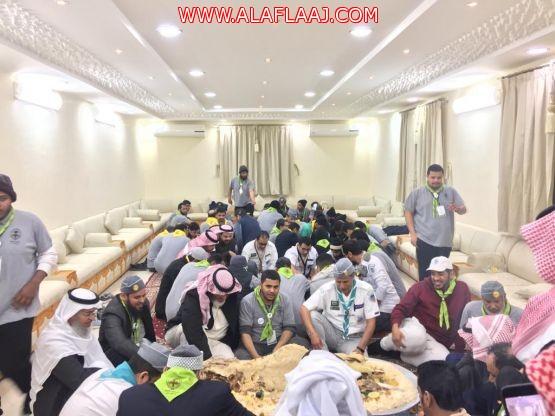 الشيخ ناصر بن ابراهيم آل بازع يستضيف نائب رئيس جمعية الكشافة العربية السعودية