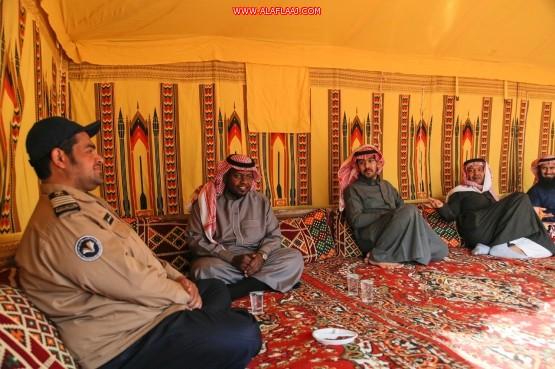 الخيمة الشتوية بكليات الأفلاج تواصل فعالياتها وتستضيف الزوار