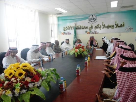 بالصــور : وفد هيئة تطوير الرياض يزور محافظة الأفلاج اليوم
