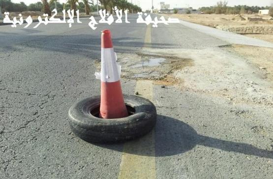 السيول تغلق عبارة على الطريق السريع والمؤسسة المنفذه بدلاً عن الأزفلت هو الأسمنت ؟