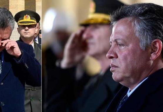 ملك الأردن يذرف الدموع أمام قبر أتاتورك !!