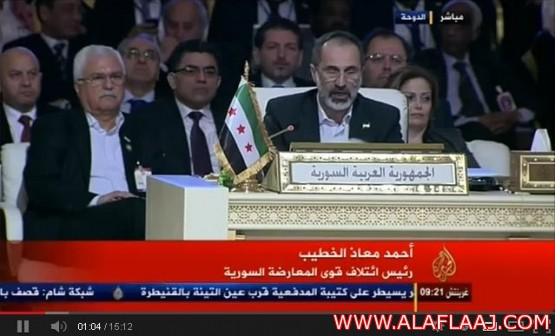 فديوا : الخطيب يلقي كلمة سوريا أمام القمة العربية ويطالب بمقعدها بالأمم المتحدة