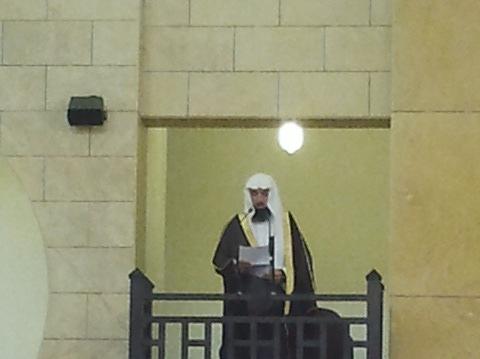 خمسة الالف مصلي في جامع الملك عبدالله بالأفلاج اليوم