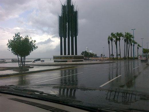 """""""الأرصاد"""": أمطار غزيرة تضرب الحوطة والخرج والقويعية والأفلاج"""