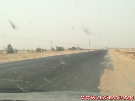 طريق الجنوب الدولي أصبح يشكل خطرا على عابريه لوجود هبوط في طبقة الأسفلت المعدلة