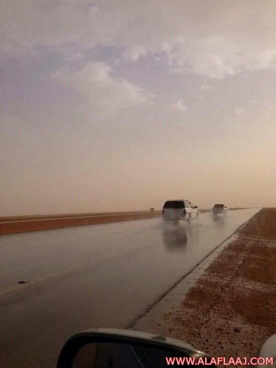أمطار خفيفه على شمال وجنوب الأفلاج