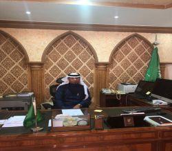 المدلج يباشر عمله رئيسآ لبلدية الهدار